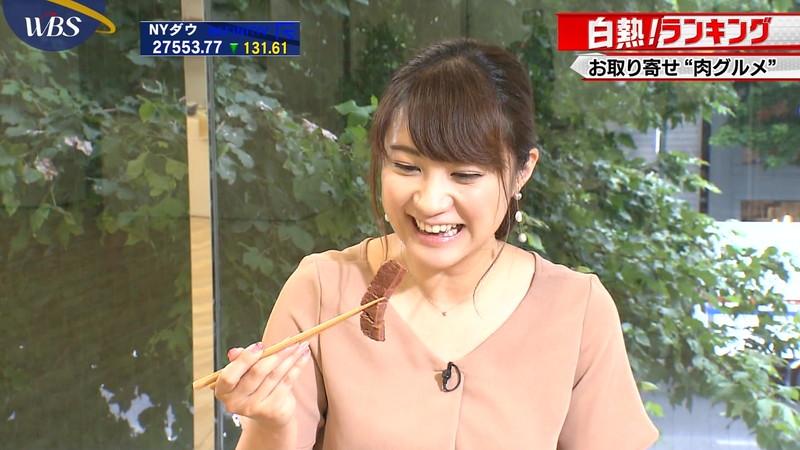 【女子アナキャプ画像】食レポしてるだけなのに何故かエロいんだよなぁw 04