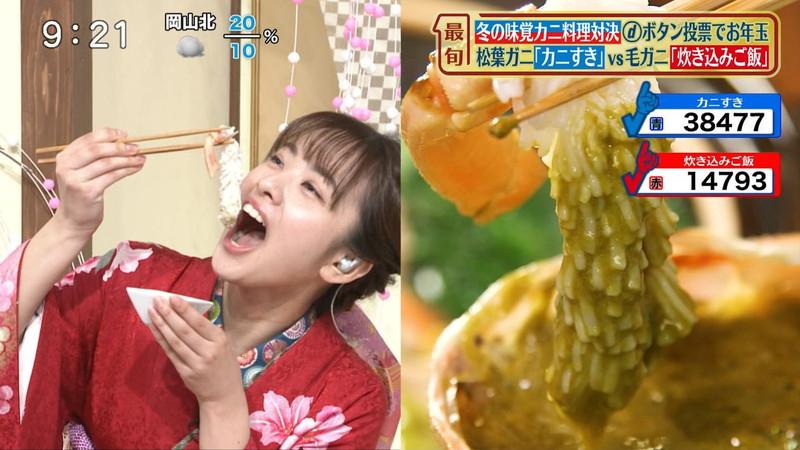 【女子アナキャプ画像】食レポしてるだけなのに何故かエロいんだよなぁw 11