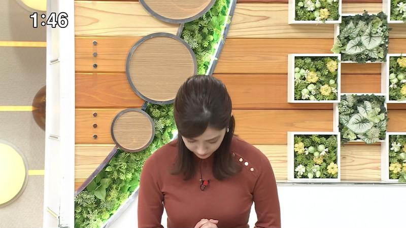 【田村真子キャプ画像】TBS女子アナウンサーのニット越しおっぱい! 03