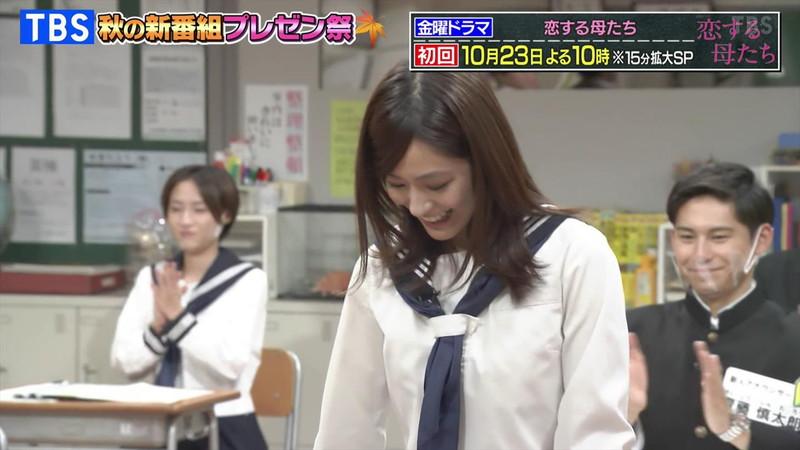 【田村真子キャプ画像】TBS女子アナウンサーのニット越しおっぱい! 17