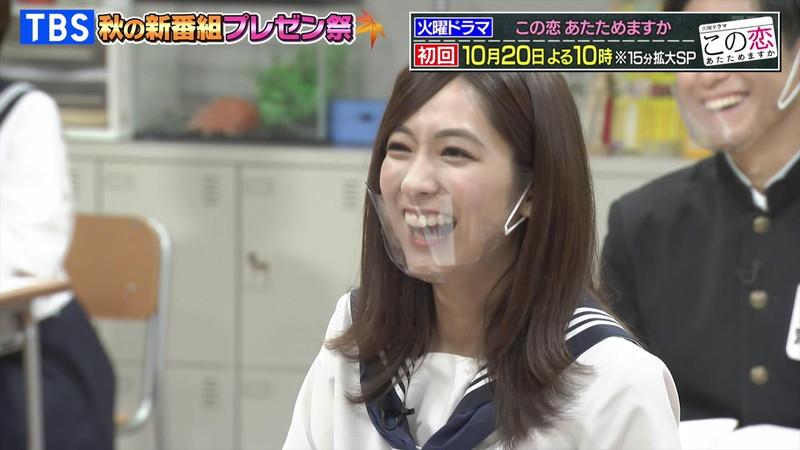 【田村真子キャプ画像】TBS女子アナウンサーのニット越しおっぱい! 18