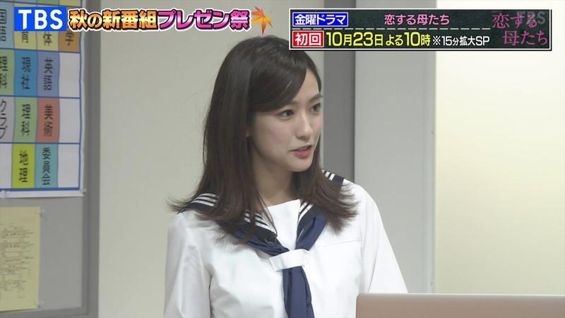 【田村真子キャプ画像】TBS女子アナウンサーのニット越しおっぱい! 21