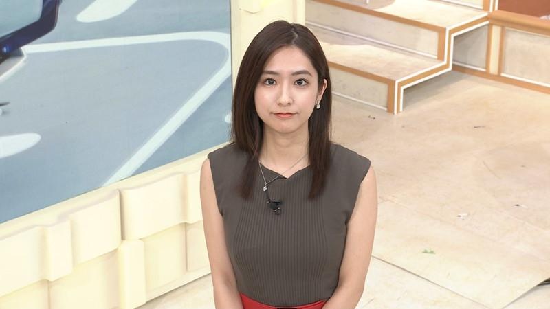【田村真子キャプ画像】TBS女子アナウンサーのニット越しおっぱい! 39