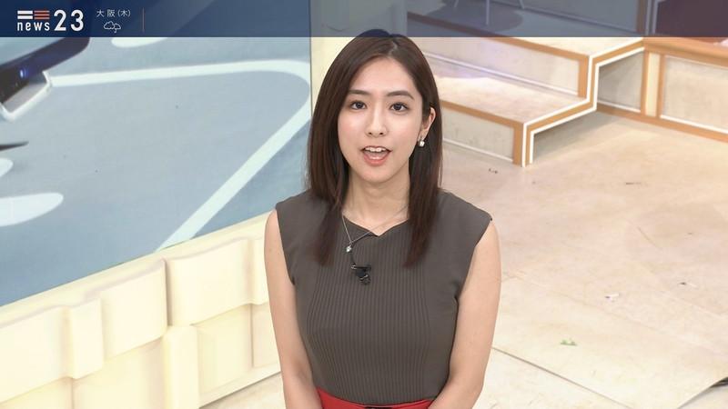 【田村真子キャプ画像】TBS女子アナウンサーのニット越しおっぱい! 41