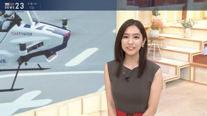 【田村真子キャプ画像】TBS女子アナウンサーのニット越しおっぱい! 42