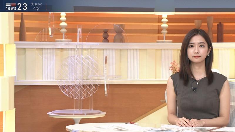 【田村真子キャプ画像】TBS女子アナウンサーのニット越しおっぱい! 47