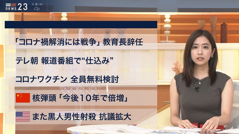 【田村真子キャプ画像】TBS女子アナウンサーのニット越しおっぱい! 49