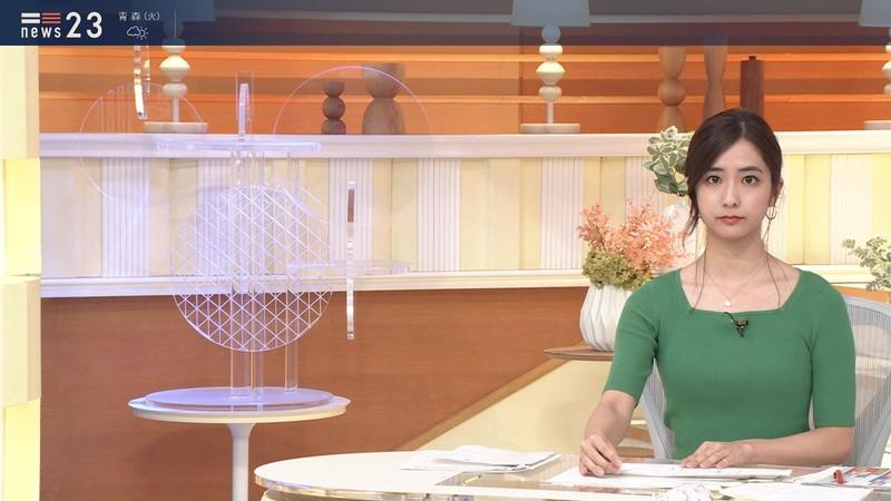 【田村真子キャプ画像】TBS女子アナウンサーのニット越しおっぱい! 50