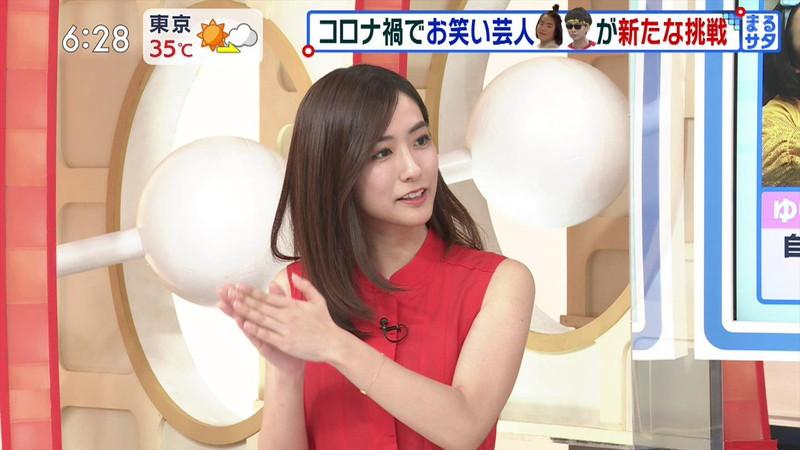 【田村真子キャプ画像】TBS女子アナウンサーのニット越しおっぱい! 62