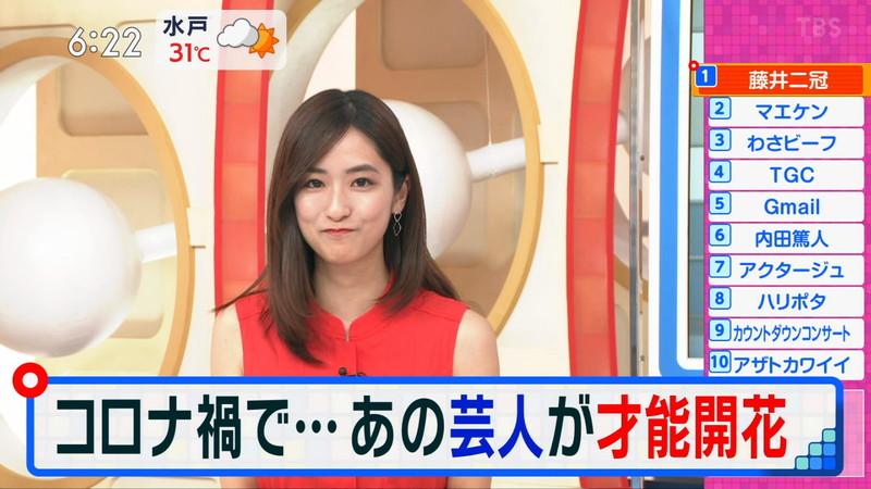 【田村真子キャプ画像】TBS女子アナウンサーのニット越しおっぱい! 65
