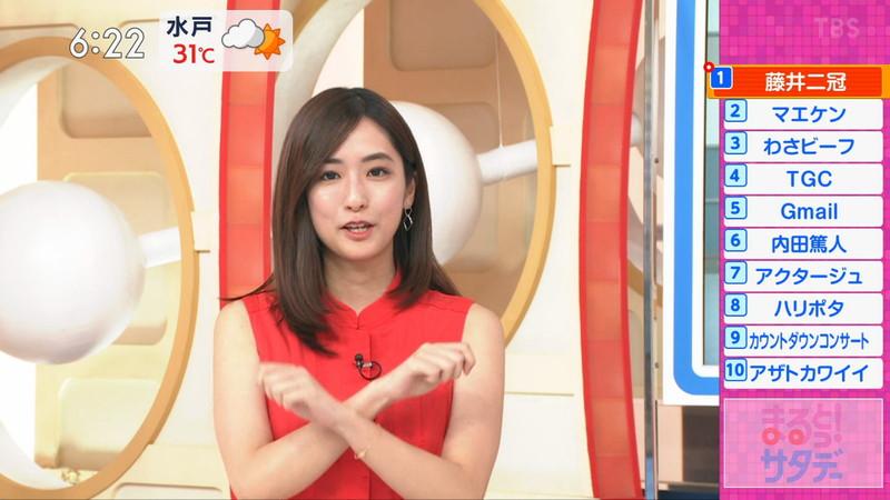 【田村真子キャプ画像】TBS女子アナウンサーのニット越しおっぱい! 67