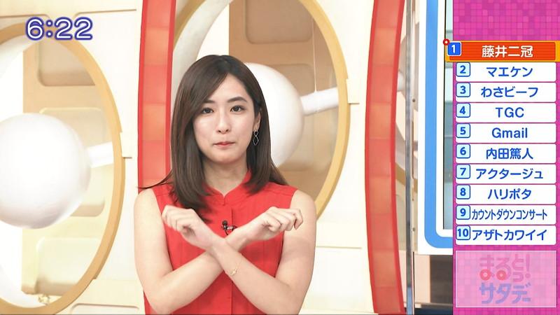 【田村真子キャプ画像】TBS女子アナウンサーのニット越しおっぱい! 68