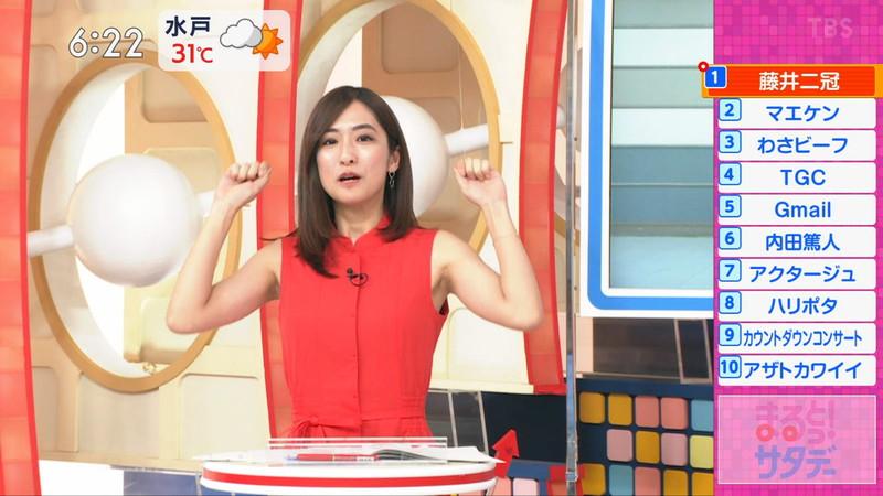 【田村真子キャプ画像】TBS女子アナウンサーのニット越しおっぱい! 70