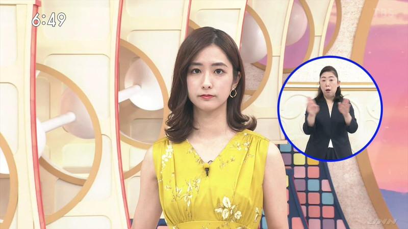 【田村真子キャプ画像】TBS女子アナウンサーのニット越しおっぱい! 76