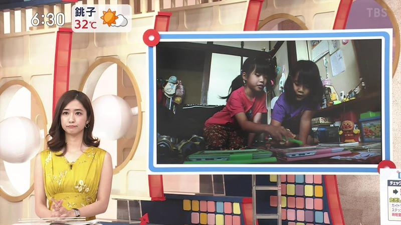 【田村真子キャプ画像】TBS女子アナウンサーのニット越しおっぱい! 77
