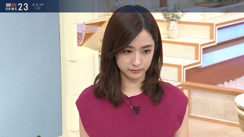 【田村真子キャプ画像】TBS女子アナウンサーのニット越しおっぱい! 78