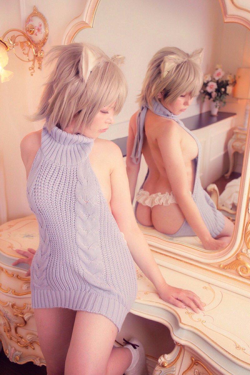 【コスプレエロ画像】猫の日に可愛くてエッチな姿をネットで見せちゃう女の子 67