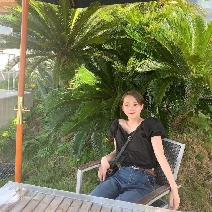 【新田あゆなグラビア画像】ショートカットが似合って可愛いミスコン美少女 66