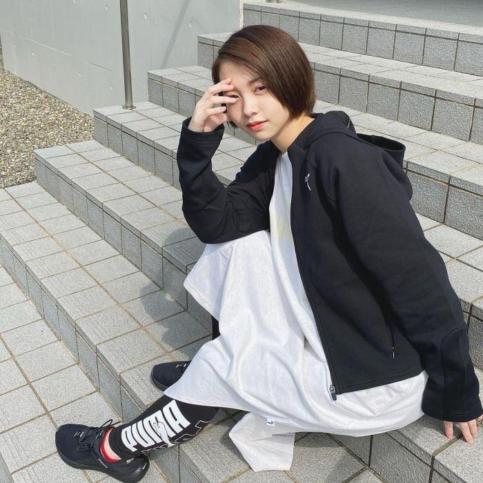 【新田あゆなグラビア画像】ショートカットが似合って可愛いミスコン美少女 68