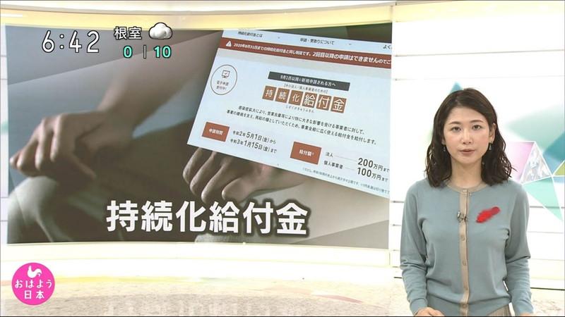 【桑子真帆キャプ画像】意外とオッパイが大きいNHK女子アナウンサーw 20