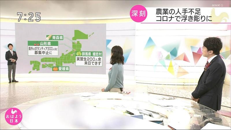 【桑子真帆キャプ画像】意外とオッパイが大きいNHK女子アナウンサーw 22