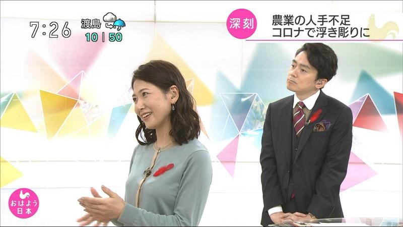 【桑子真帆キャプ画像】意外とオッパイが大きいNHK女子アナウンサーw 24