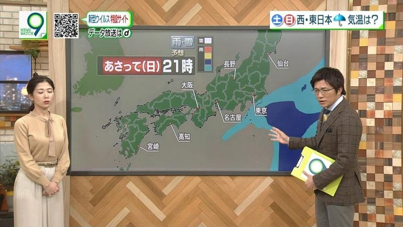 【桑子真帆キャプ画像】意外とオッパイが大きいNHK女子アナウンサーw 71