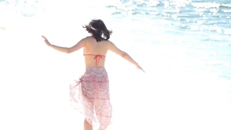 【倉沢しえりキャプ画像】笑顔が可愛いFカップ巨乳の童顔お姉ちゃん! 14