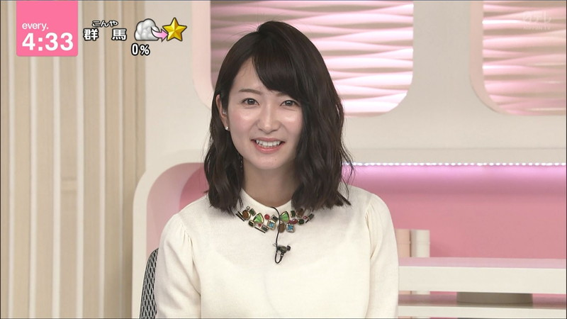 【女子アナキャプ画像】中島芽生さんのニット越しおっぱいや二の腕!