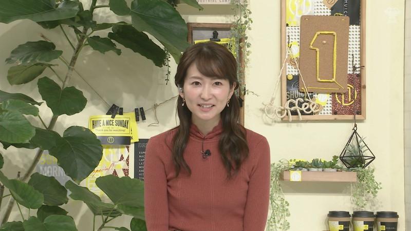 【女子アナキャプ画像】中島芽生さんのニット越しおっぱいや二の腕! 09