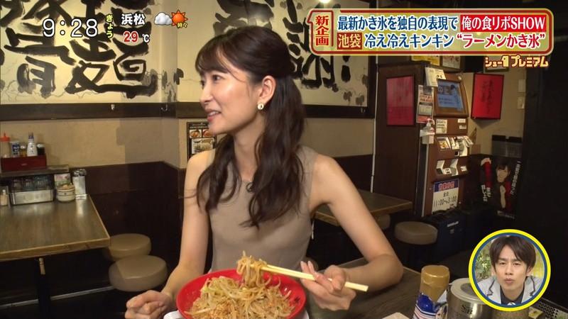 【女子アナキャプ画像】中島芽生さんのニット越しおっぱいや二の腕! 23