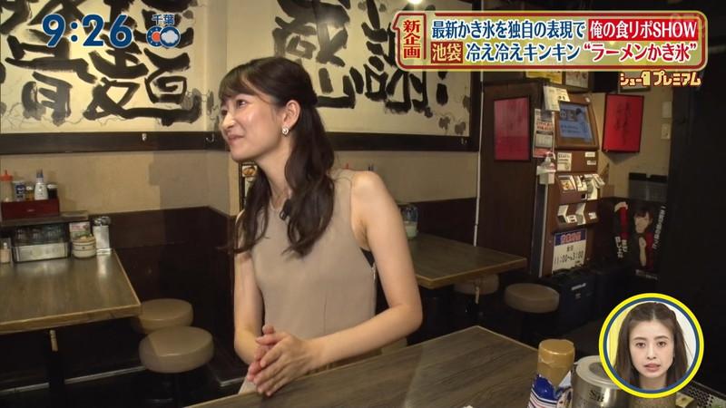 【女子アナキャプ画像】中島芽生さんのニット越しおっぱいや二の腕! 24