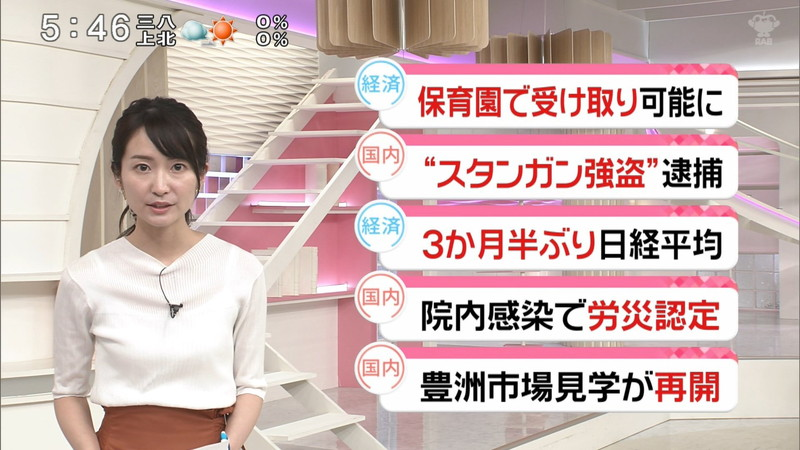 【女子アナキャプ画像】中島芽生さんのニット越しおっぱいや二の腕! 28