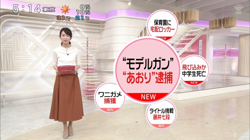 【女子アナキャプ画像】中島芽生さんのニット越しおっぱいや二の腕! 30