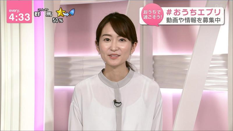 【女子アナキャプ画像】中島芽生さんのニット越しおっぱいや二の腕! 34
