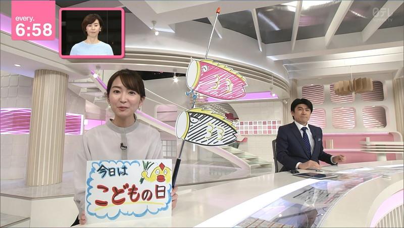 【女子アナキャプ画像】中島芽生さんのニット越しおっぱいや二の腕! 41