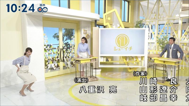 【女子アナキャプ画像】中島芽生さんのニット越しおっぱいや二の腕! 49