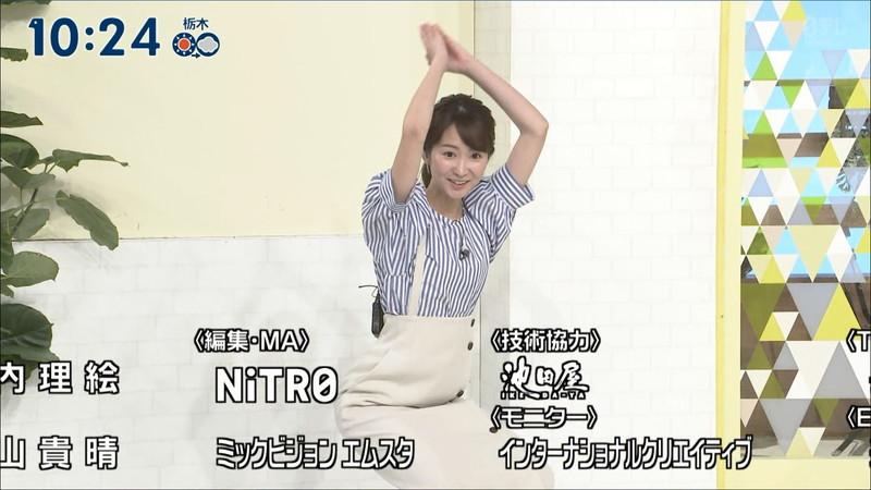 【女子アナキャプ画像】中島芽生さんのニット越しおっぱいや二の腕! 50