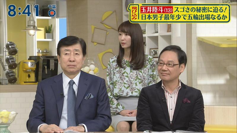 【女子アナキャプ画像】中島芽生さんのニット越しおっぱいや二の腕! 60