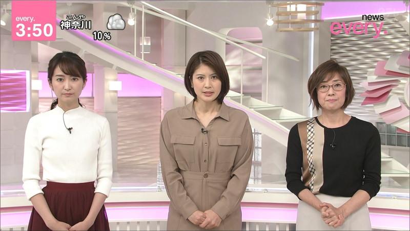 【女子アナキャプ画像】中島芽生さんのニット越しおっぱいや二の腕! 68