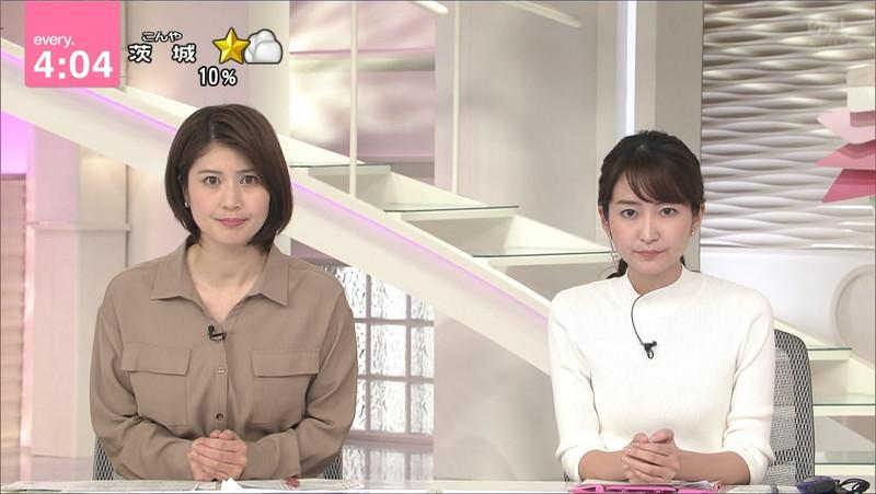 【女子アナキャプ画像】中島芽生さんのニット越しおっぱいや二の腕! 69