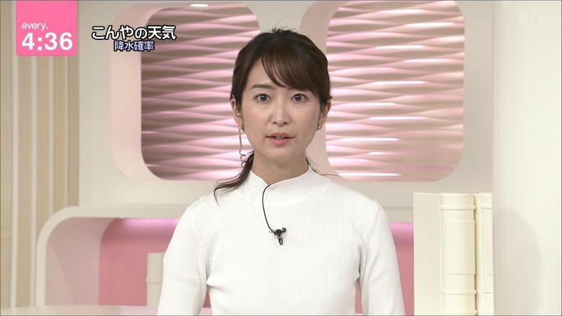 【女子アナキャプ画像】中島芽生さんのニット越しおっぱいや二の腕! 70