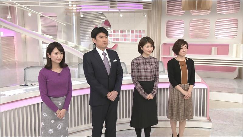 【女子アナキャプ画像】中島芽生さんのニット越しおっぱいや二の腕! 72