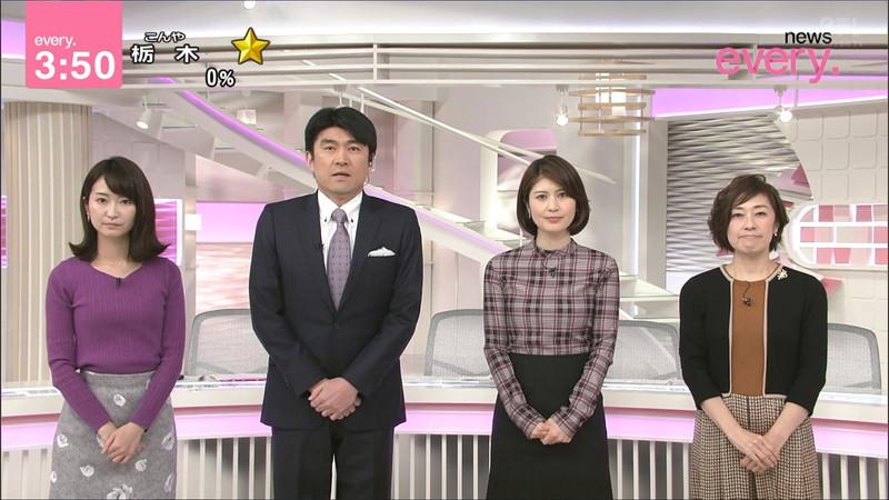 【女子アナキャプ画像】中島芽生さんのニット越しおっぱいや二の腕! 73