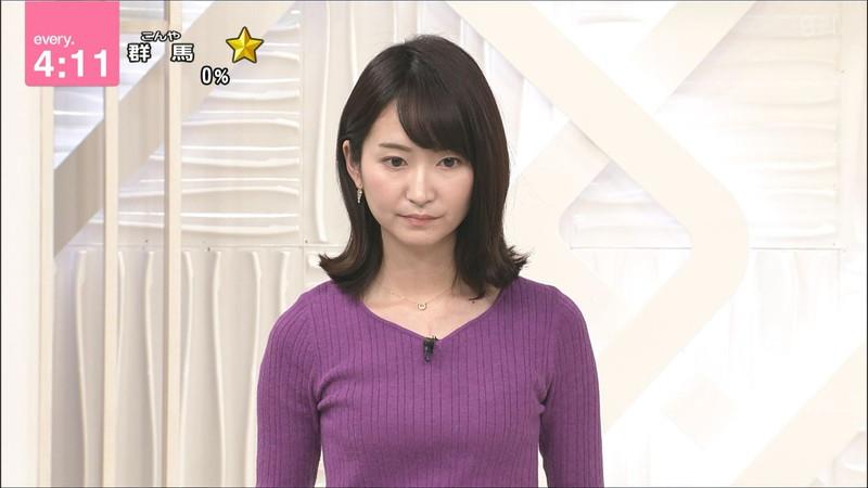 【女子アナキャプ画像】中島芽生さんのニット越しおっぱいや二の腕! 75