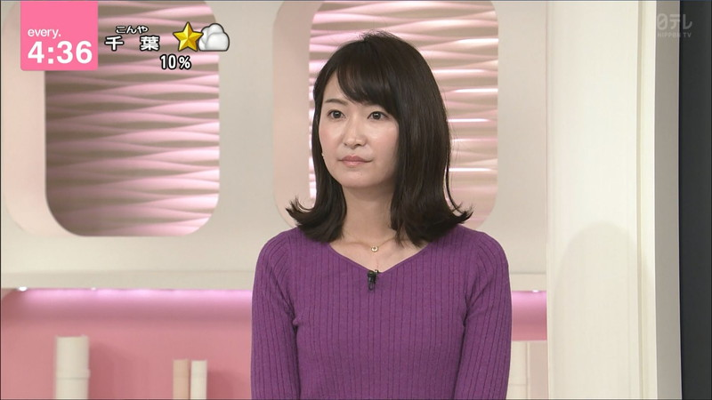【女子アナキャプ画像】中島芽生さんのニット越しおっぱいや二の腕! 77