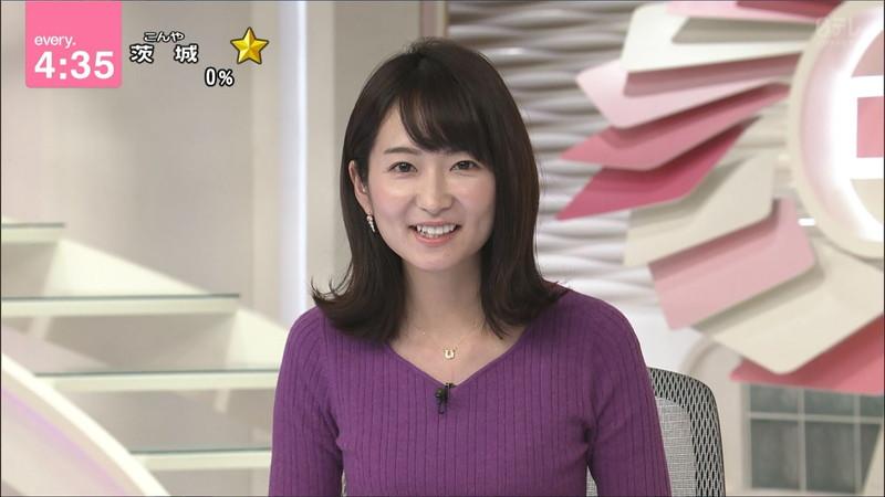【女子アナキャプ画像】中島芽生さんのニット越しおっぱいや二の腕! 80