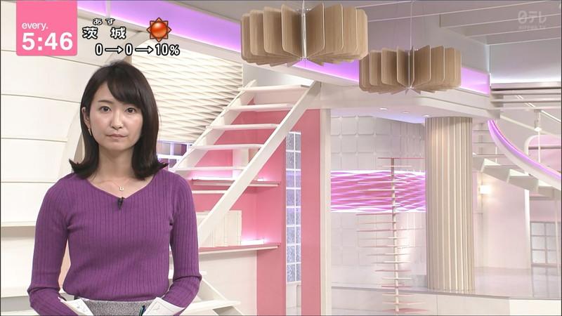 【女子アナキャプ画像】中島芽生さんのニット越しおっぱいや二の腕! 82