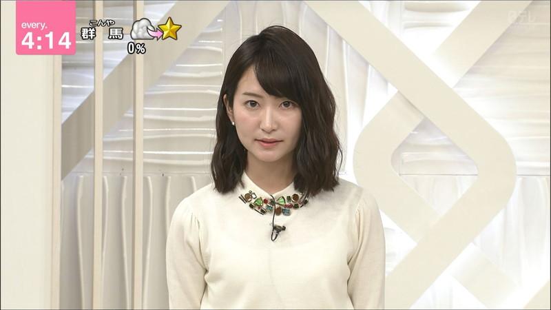 【女子アナキャプ画像】中島芽生さんのニット越しおっぱいや二の腕! 85