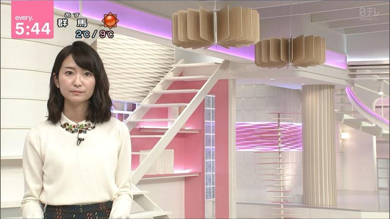 【女子アナキャプ画像】中島芽生さんのニット越しおっぱいや二の腕! 88